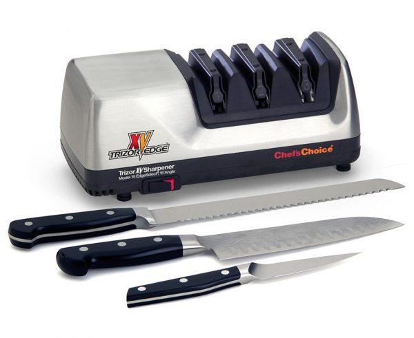 15XV lifestyle1 600x491 - Электрическая точилка для ножей Chef'sChoice 15XV Trizor Edge